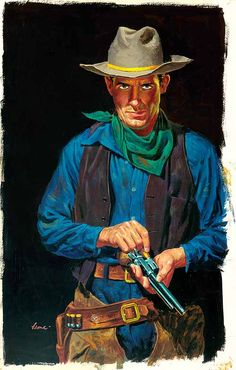 Illustration/Painting by John Leone Cowboy Art, Cowboy And Cowgirl, Cowboy Pics, Character Poses, Character Design, U2 Poster, Westerns, Cowboys And Indians, Real Cowboys