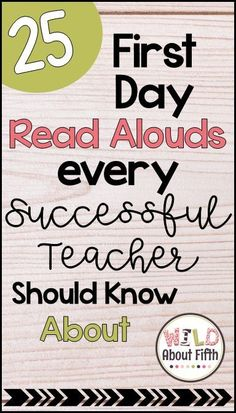 25 First Day Read Alouds All Successful Teachers Should Know About Use picture books on the first day of school to ease student anxiety and to show your brand new students that this is going to be the First Day Of School Activities, 1st Day Of School, Beginning Of The School Year, High School, Back To School Ideas For Teachers, Back To School Teacher, School Stuff, Mentor Texts, New Students