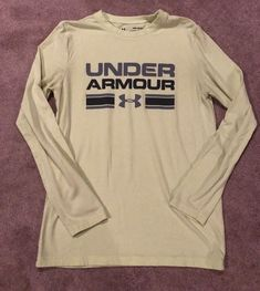 fe05efe85f Boys UNDER ARMOUR Pale Yellow Long-Sleeve T-Shirt - Size Youth Medium  (YMD)   5.00 (0 Bids) End Date  Friday Sep-7-2018 19 33 53 PDT Bid…