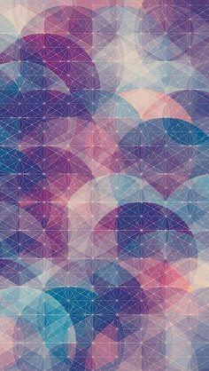 cool 楕円幾何学模様 iPhone5 スマホ壁紙