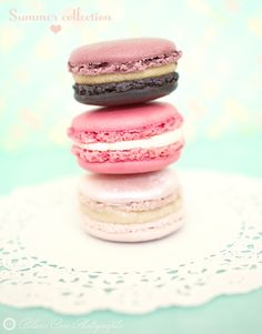 summer collection of macarons from 'pierre herme.'