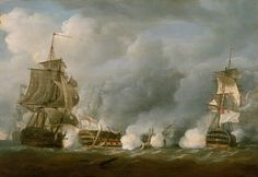 """Nicholas Pocock: """"HMS Defence at the Battle of the Glorious 1 June 1794"""" (1811)"""