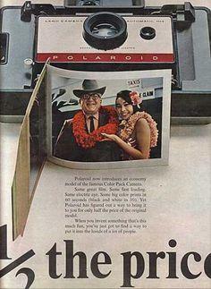 Vintage Polaroid Camera ad! Maybe we should purchase a Polaroid camera!