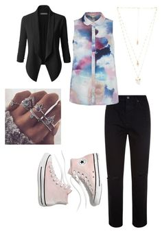 """""""Untitled #104"""" by heta-makinen on Polyvore featuring AG Adriano Goldschmied, Natalie B, Madewell and LE3NO"""