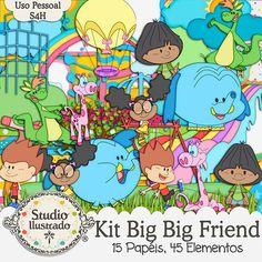 Kit Big Big Friend, Big Big Friend Kit, meu amigãozão, meu amigão, meu amigo, Yuri, Lili, Matt, Crianças, Golias, Nessa, Bongo, Girafa Rosa, Elefante Azul, Canguru Verde, Parquinho, Brinquedos, Diversão, Cidade de Pipawichawau, Futebol, Bola, Giraffe Pink, Blue Elephant, Green Kangaroo, Playground, Toys, Joy, Play, Fun, City Pipawichawau, Sports, Soccer, Ball, Amigazazo, Mi Amigazazo, Os Amigõezões, kit digital, digital kit, elementos, papéis, papers, elements