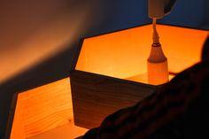 Lampe contemporaine et hexabox #woodcodesign #Hexabox #bois #mobilier #design #ebeniste #déco #artisan #luminaire
