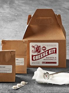 It doesn't get more local than right in her own kitchen! This little cardboard box is filled with everything she'll need to make ten fresh batches of ricotta or mozzarella—just add milk.