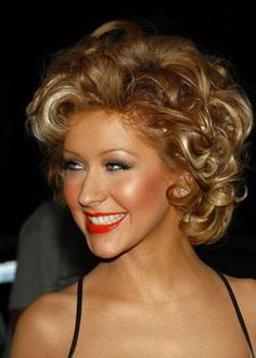 Christina Aguilera with Short Curly Hair
