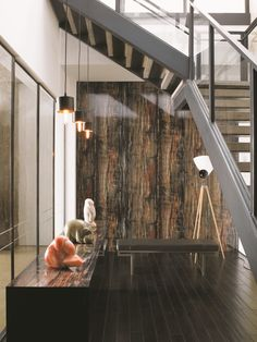 Laminate flooring on walls for a warm and luxurious feel of the interior - Little Piece Of Me Little Piece Of Me