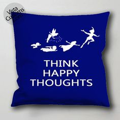 peter pan quote 4 pillow case, cushion cover ( 1 or 2 Side Print With Size 16, 18, 20, 26, 30, 36 inch )