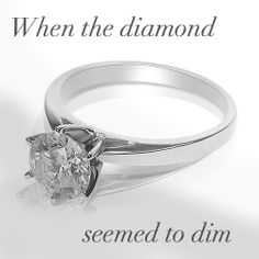 Lacey's diamond ring, from her fiancé Matthew - a man toward whom the Weaver family has very mixed feelings, for reasons yet to be revealed... (Illustration for Scene 2.8: In Vain)