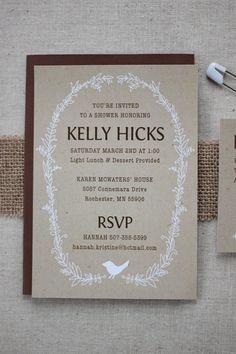 Baby shower invites from Kelly Hicks Design.