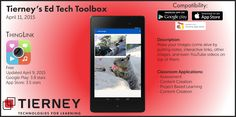 #TierneyTools April 11, 2015: ThingLink https://www.thinglink.com/ | Follow TierneyEd on Twitter and Tierney Brothers on Facebook for new tech tools! | https://www.facebook.com/TierneyBrothers | https://twitter.com/tierneybrothers | #edtech