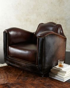 """Old Hickory Tannery """"Stedman"""" Hairhide Chair"""