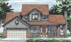 *** Country House Plan 99404