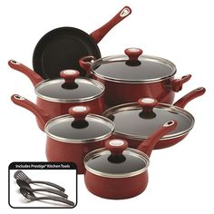 Oven safe to 350°F, Farberware® purECOok™ Ceramic Nonstick Cookware ...