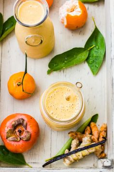 The Bojon Gourmet: Persimmon and Tangerine Smoothie with Vanilla, Ginger and Turmeric