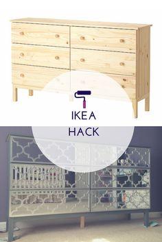 Blog: how I turned the IKEA TARVA dresser into an elegant mirrored piece of…