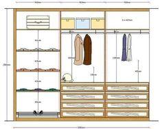 medidas de la ropa de armario - Buscar con Google