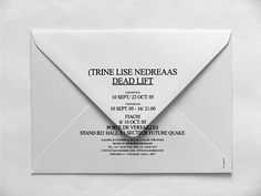website Trine Lise Nedreaas (Dead Lift),Invitation in Layout's Self Branding, Branding Logo Design, Collateral Design, Identity Design, Monospace, Print Design, Graphic Design, Design Design, Design Ideas