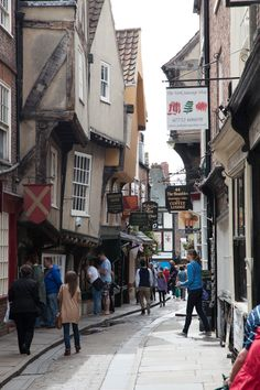 The Shambles - York - UK....there's a portion of this street so tight that uncanny stretch ur arms out and touch buildings on either side
