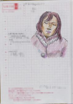A woman I saw in the commuter train. 『ボックス席』
