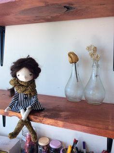 Handmade doll by A Stitch To Remember Handmade Dolls, Stitch, Sewing, Room, Full Stop, Dressmaking, Couture, Stitching, Stitches