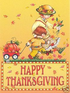 Cute Thanksgiving magnet! www.verymerrymagnets.com See our ebay and Etsy Store: Very Merry Magnets Official Licensee of Mary Engelbreit Studios