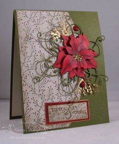 by the talented Karen Knegten  Love the Gold spruce. This is a lovely card.