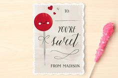 Lollipop Classroom Valentine's Cards by Chryssi Ts... | Minted