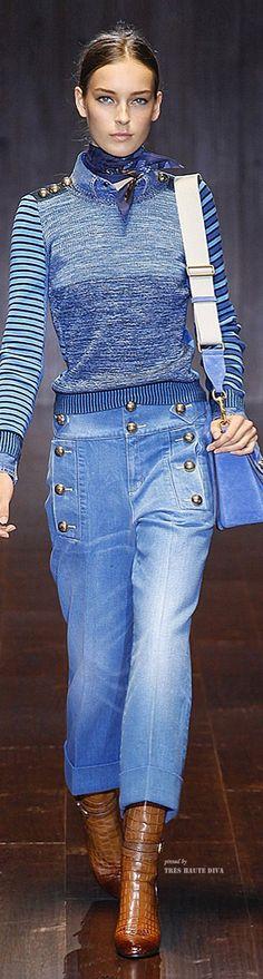 Gucci Spring Summer 2015 – Jeans do Verão 2016 //////BOTÕES CINTURA MÉDIA
