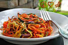Rainbow Vegetable Noodles | Peace, Love, and Low Carb