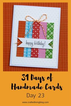 diy birthday cards for friends handmade Make this easy DIY birthday card for friends, moms, dads and anyone else you can think of. By ing the simple step-by-step tutorial, youll have a handmade card in under an hour! Simple Birthday Cards, Homemade Birthday Cards, Birthday Cards For Friends, Bday Cards, Homemade Cards, Diy Cards For Friends, Scrapbook Birthday Cards, Diy Cards For Dad, Cricut Birthday Cards
