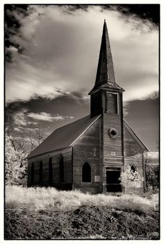 Infrared Abandoned Church