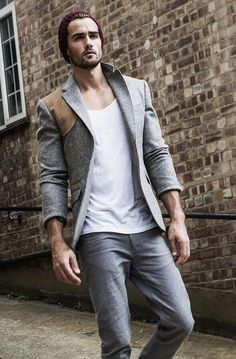 Cool jacket. Interesting stylistic contrast with the rest of the elements   the tie guy   www.facebook.com/groovypaisley   #coolStyle #manFashion