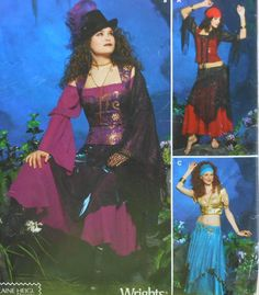 Gypsy Costume Sewing Pattern