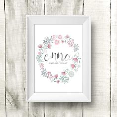 Sister definition baby shower gift nursery wall art custom digital baby name wall art name meaning baby by littleprintbox negle Images