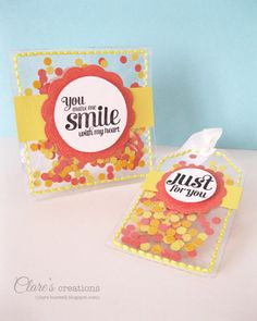 Confetti shaker card and tag by cbuswell - Cards and Paper Crafts at Splitcoaststampers