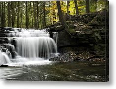 Serenity Waterfalls Landscape by Christina Rollo © www.rollosphotos.com. #pennsylvania #waterfall #landscape #art #fineart #photography #rollosphotos