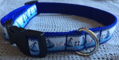 Handmade Adjustable Nautical Dog Collar & Medium to Large Breeds Handmade Dog Collars, Rescue Dogs, I Love Dogs, Cool Things To Make, Fur Babies, Nautical, Cool Designs, Boutique, Personalized Items