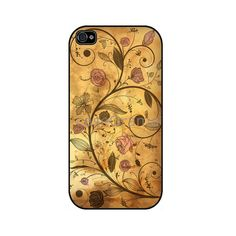 Antique Floral Pattern Rubber iPhone Case iPhone 4 by caseOrama, $19.00