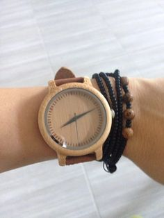 Tienda Online Unique Vogue Para Mujer De Bambú De Madera Reloj de Cuarzo Deporte Al Aire Libre Relojes Montre Femme Reloj Con Correa de Cuero | Aliexpress móvil