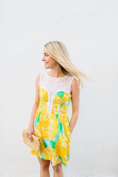 Jillian of Rhyme and Reason shines in this Lilly Pulitzer dress!