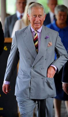 Prince Charles told a nine-year-old how special it was to become a grandfather, on a visit to Gloucestershire today, 25 July 2013