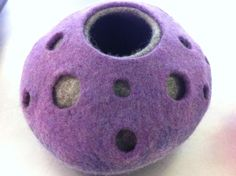 Felting courses at a dedicated felting studio, Felt in the Factory - DOUBLE RESIST VESSEL - JULY
