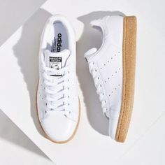 91bed9f5f adidas Originals Stan Smith Gum-Sole Sneaker- White W Casual Shoes
