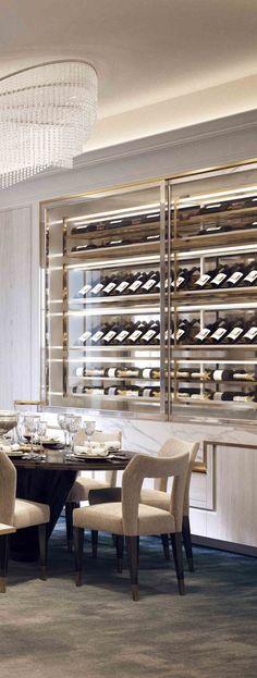 Wine Wall, Villa la Vague - Morpheus London #wine #storage