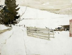 Andrew Wyeth Watercolor Paintings | Andrew Wyeth 'Not Plowed' 1985 watercolor | Flickr - Photo Sharing!