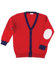 Boys vest in happy red - Jongens vest in vrolijk rood