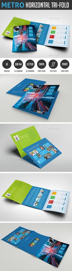 Metro Horizontal TriFold Flyer  Tri Fold Flyer Template And